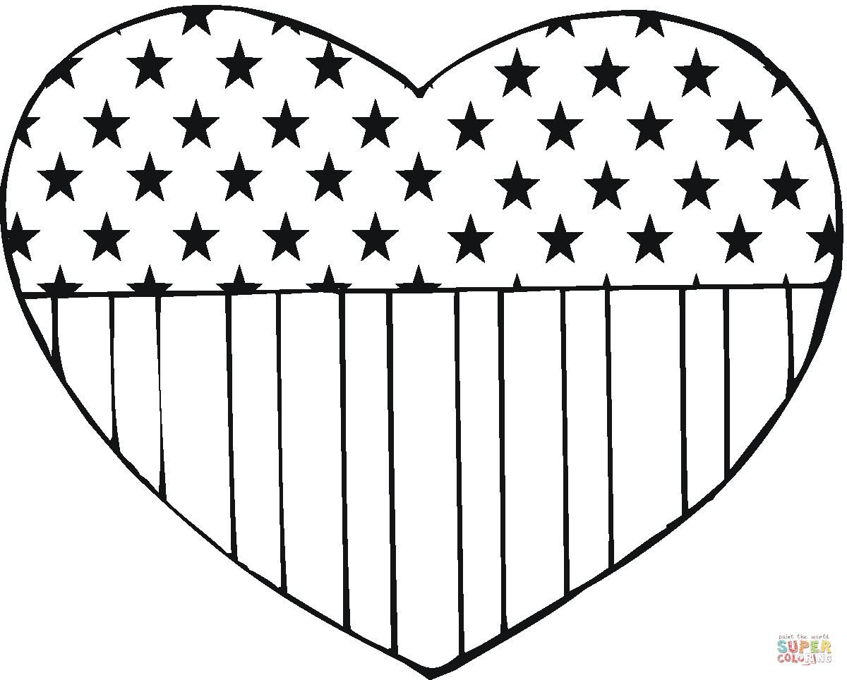 18 Coloring Page Us Flag American Flag Coloring Page Heart Coloring Pages Memorial Day Coloring Pages
