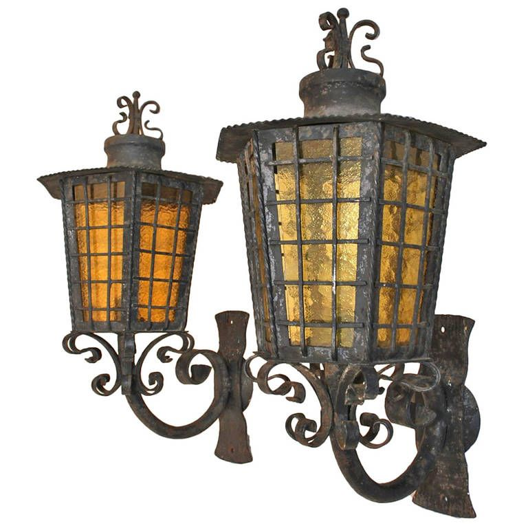Wrought Iron Outdoor Sconces