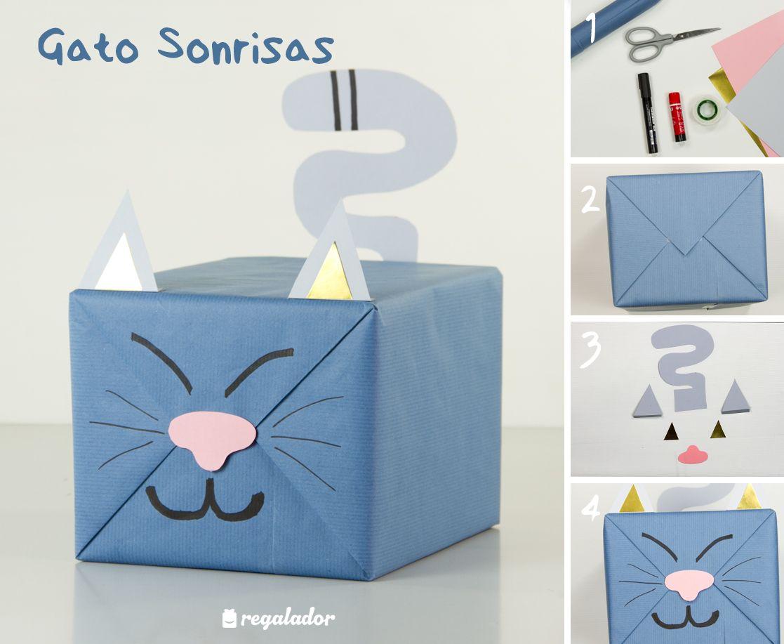 Envolver regalo original ni os gato 1117 917 - Regalos envueltos originales ...