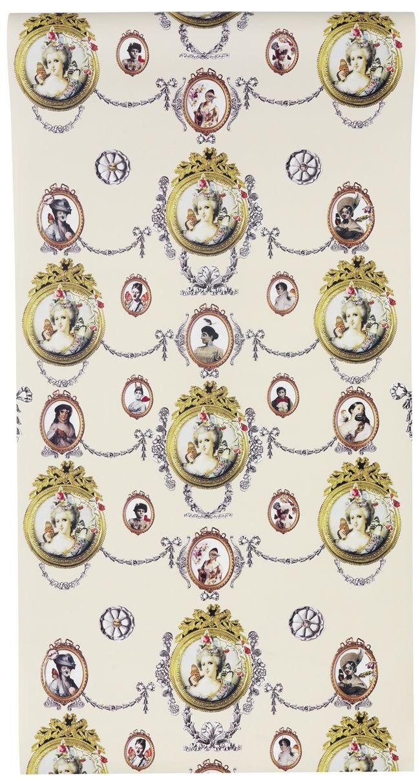 Marie Antoinette Wallpaper in Yellow
