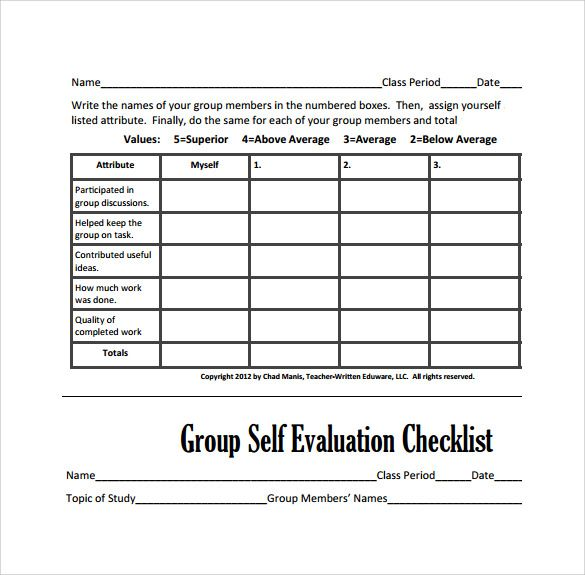 Quick-Peer-Evaluation-Formjpg (585×575) Teaching Pinterest - sample peer evaluation form