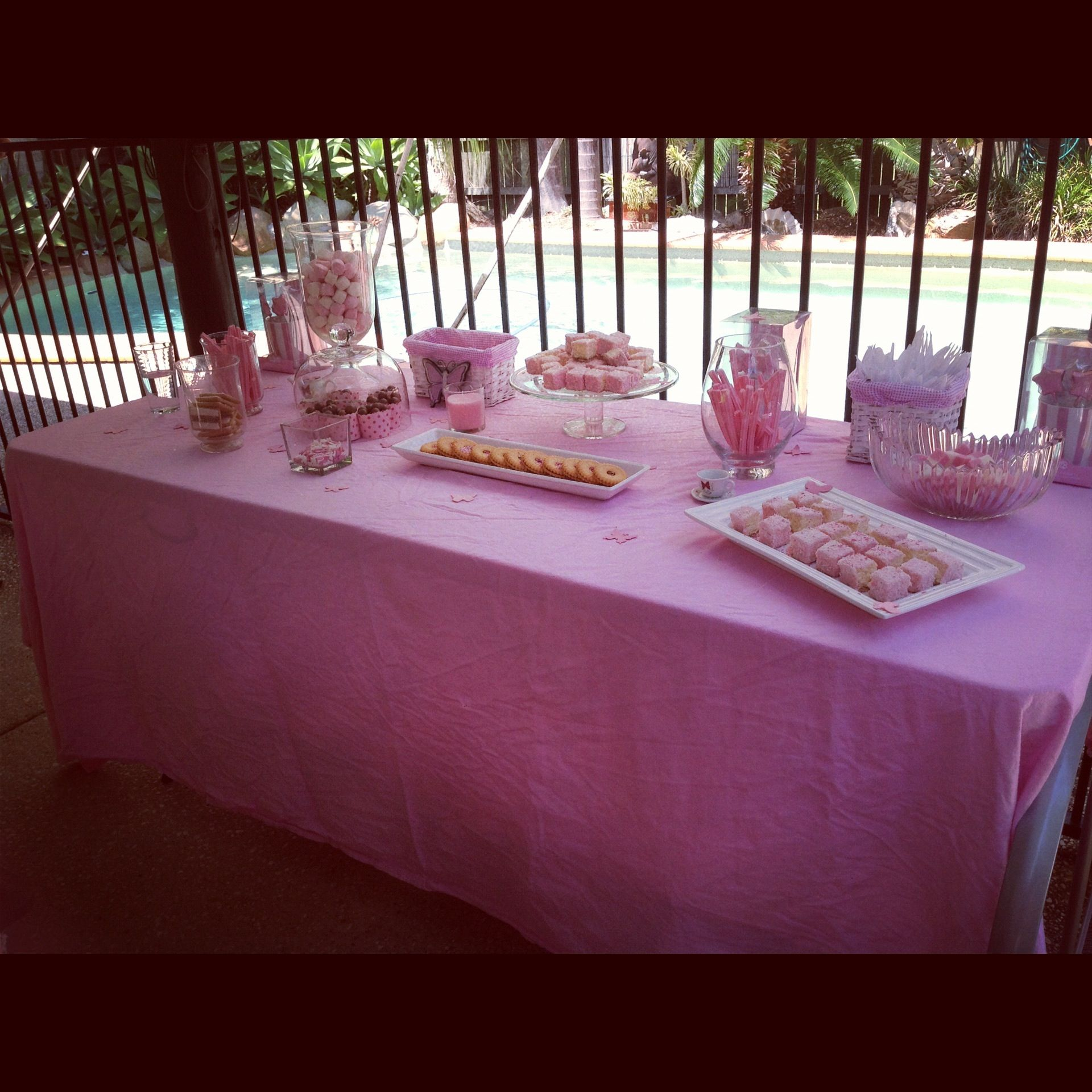 How To Organize A Baby Shower Part - 30: How To Plan A Baby Shower Baby Girl Baby Shower Sweets Buffet Pink U0026 White