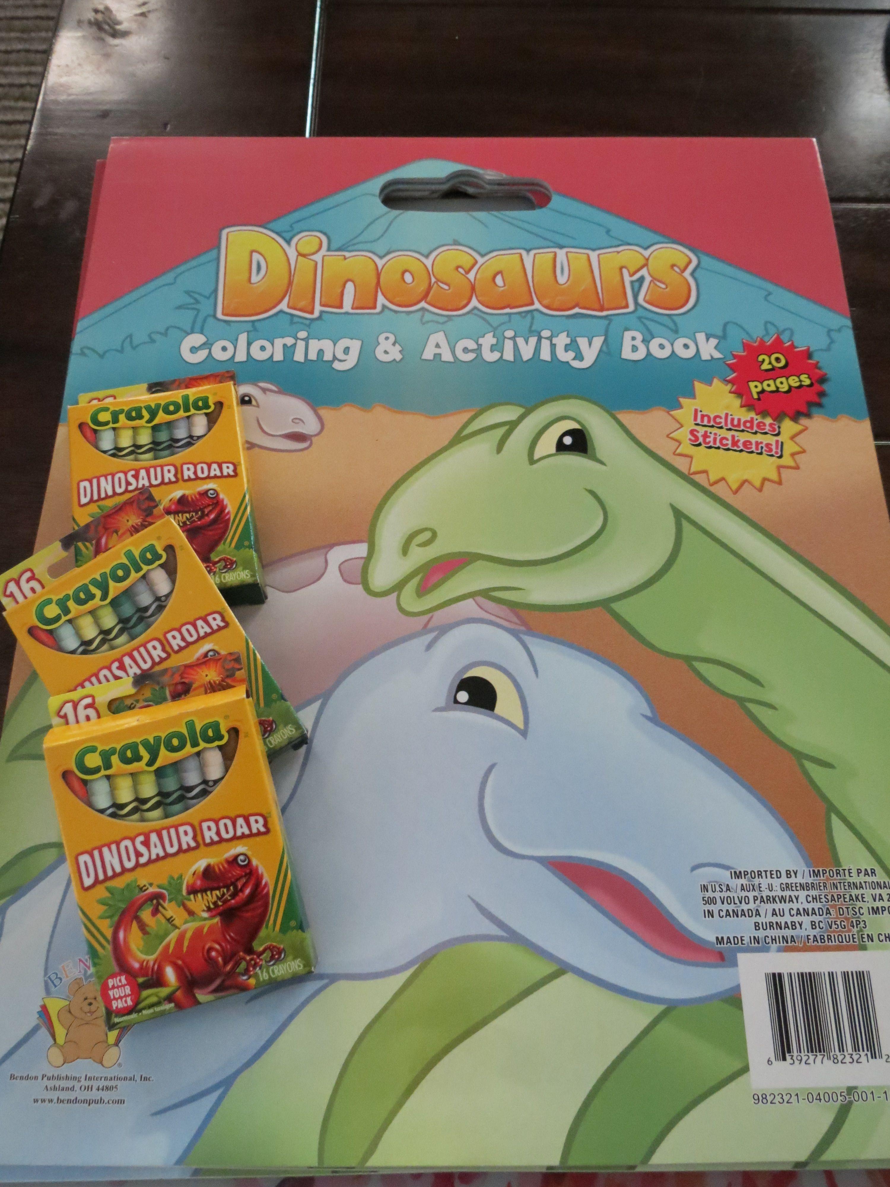 Party Favors: Dinosaur Coloring Books at Dollar Tree and Dinosaur ...