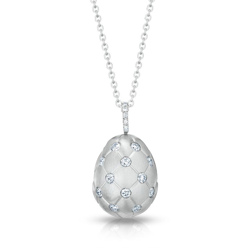 Faberge egg pendant treillage diamond white gold matt pendant faberge egg pendant treillage diamond white gold matt pendant aloadofball Gallery
