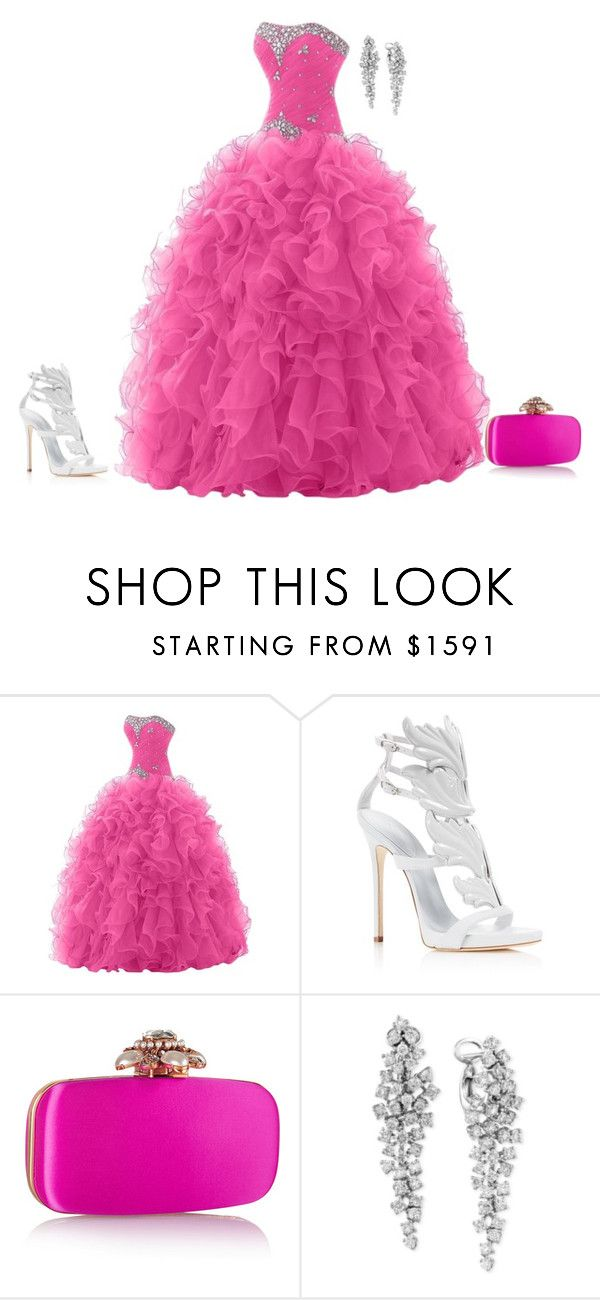 """outfit 2973"" by natalyag ❤ liked on Polyvore featuring Giuseppe Zanotti, Oscar de la Renta and Effy Jewelry"