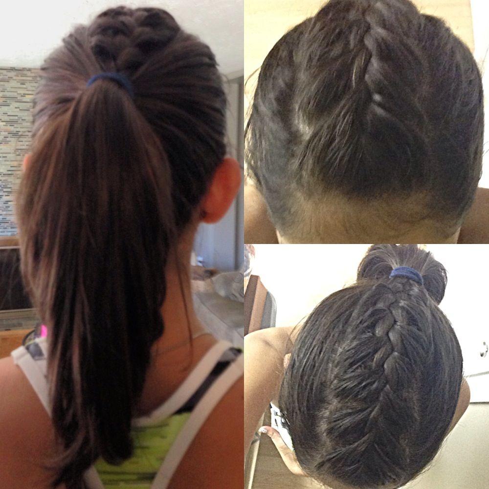 French braid mohawk pony tail hair u makep pinterest french