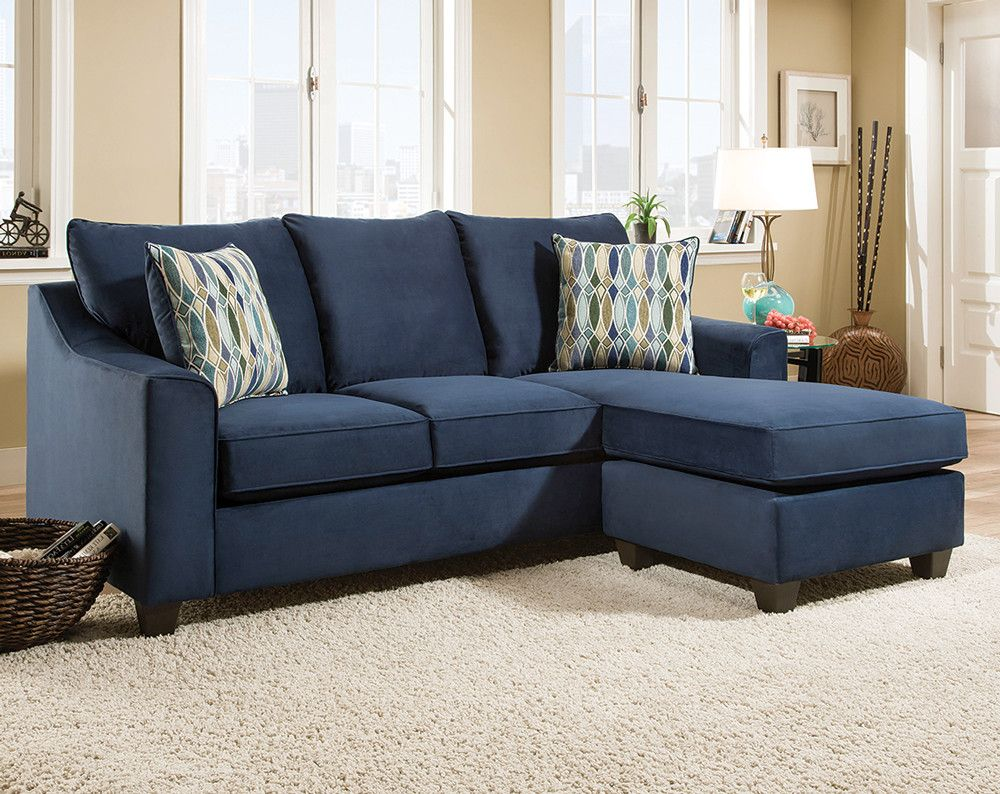 Best Dark Blue Sofa With Accent Pillows Nile Blue 2 Pc 640 x 480