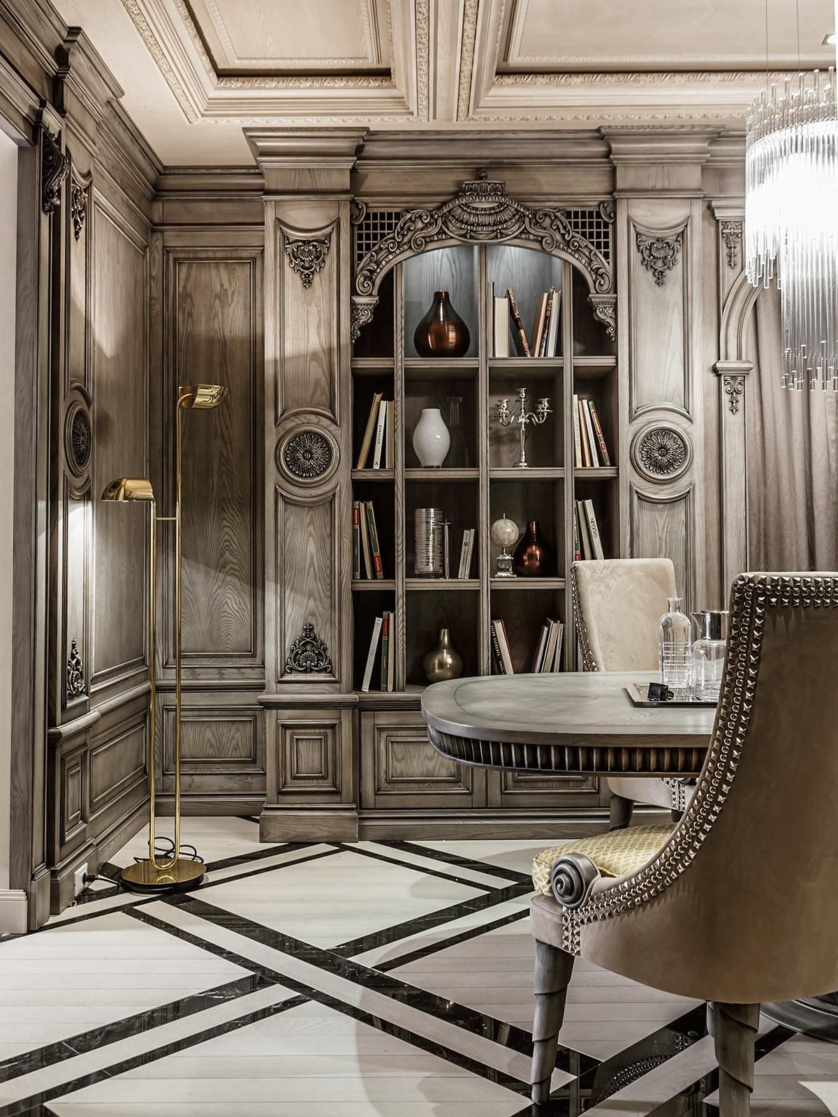 Art Deco Office Decor Neoclassical And Art Deco Features In Two Luxurious