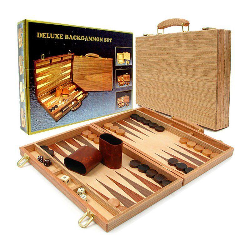 Deluxe Wooden Backgammon Set 123880 Backgammon set