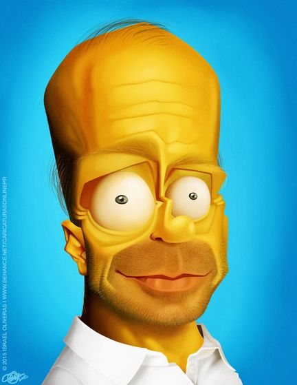 Homer Simpson Funny Face : homer, simpson, funny, Homer, Simpson, Caricature,, Simpson,, Cartoon