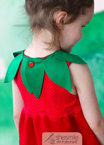 Erdbeer Kostum Anleitung Und Schnittmuster Fur Kinder Und