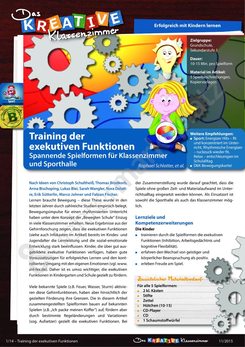 Training der exekutiven Funktionen - Spannende Spielformen für ...