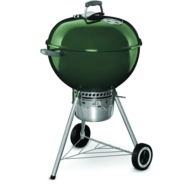 Weber Original Kettle Premium 22 Inch Charcoal Grill Green 14407001 Bbqguys Best Charcoal Grill Charcoal Grill Charcoal Smoker