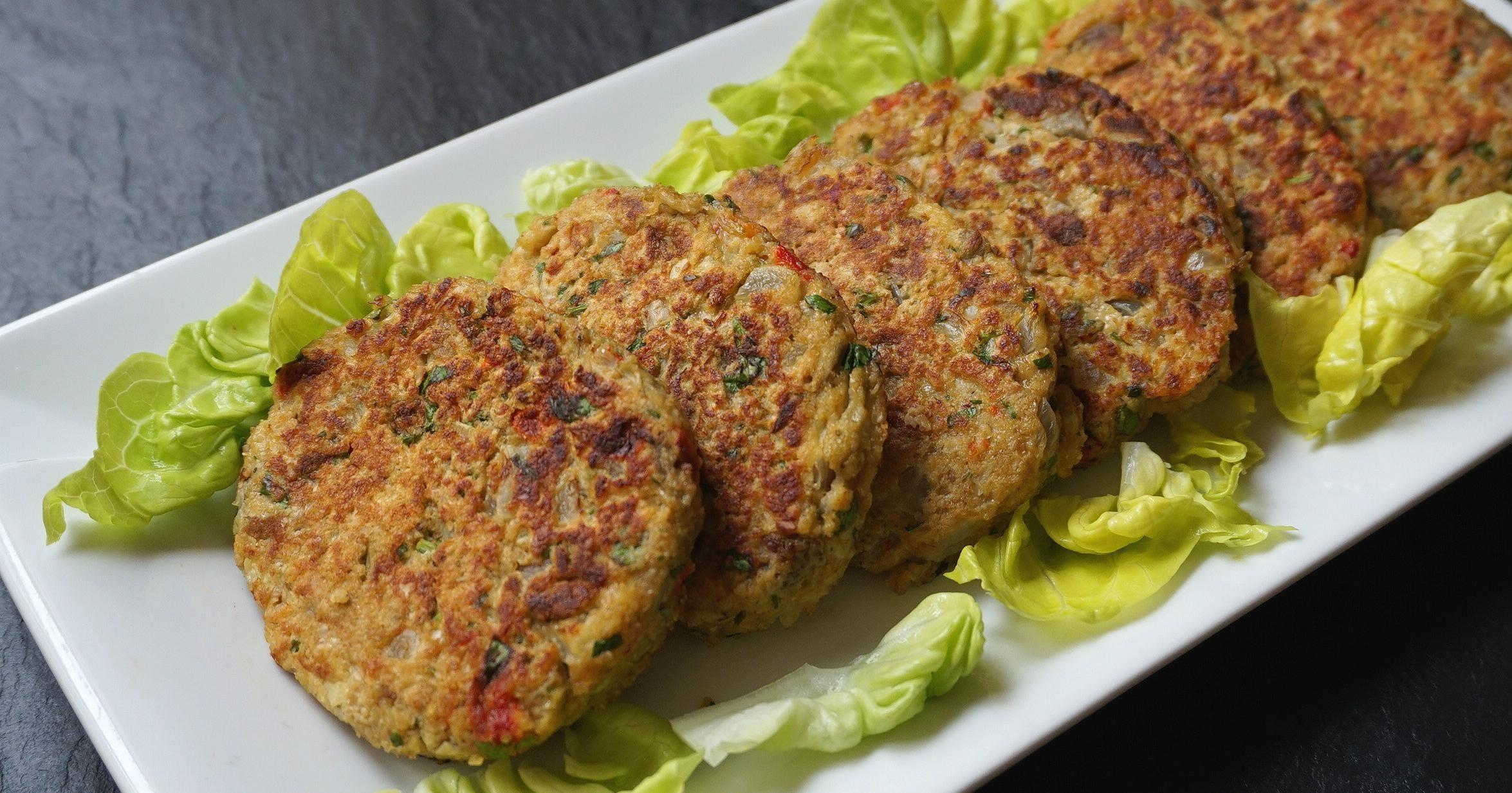 Hamburguesas de berenjena riqu simas y sin grasa - Hacer hamburguesas vegetarianas ...