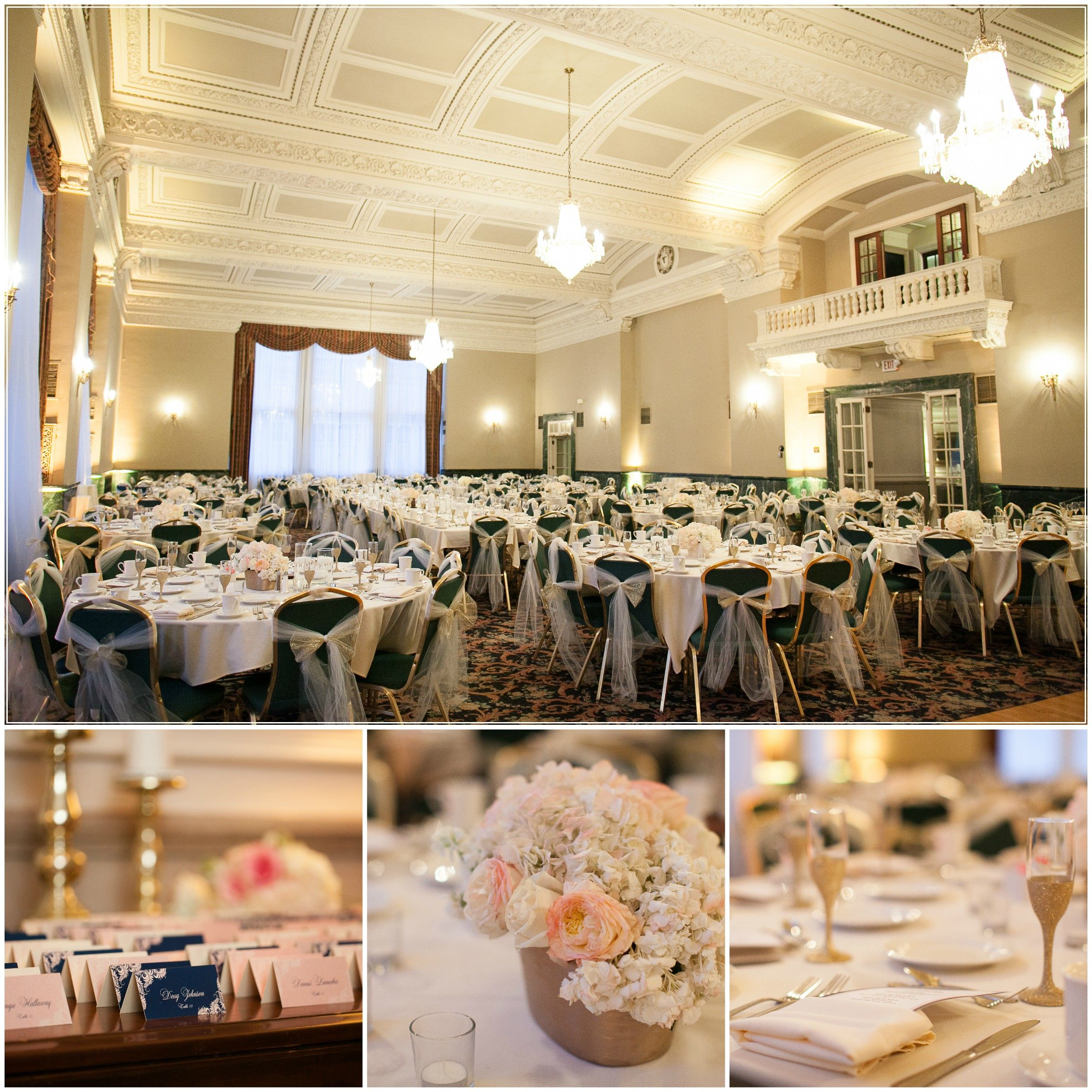 Simple Yet Elegant Reception At St Paul Athletic Club Mn Winter Wedding Andrea Adam Written By Blooms Bubbly
