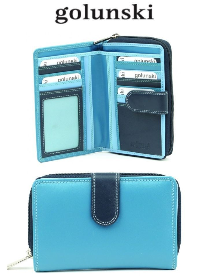 Style 304 ladies leather multi coloured purse in