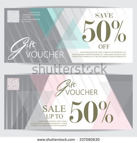 gift voucher certificate coupon template, cute and modern style - business coupon template