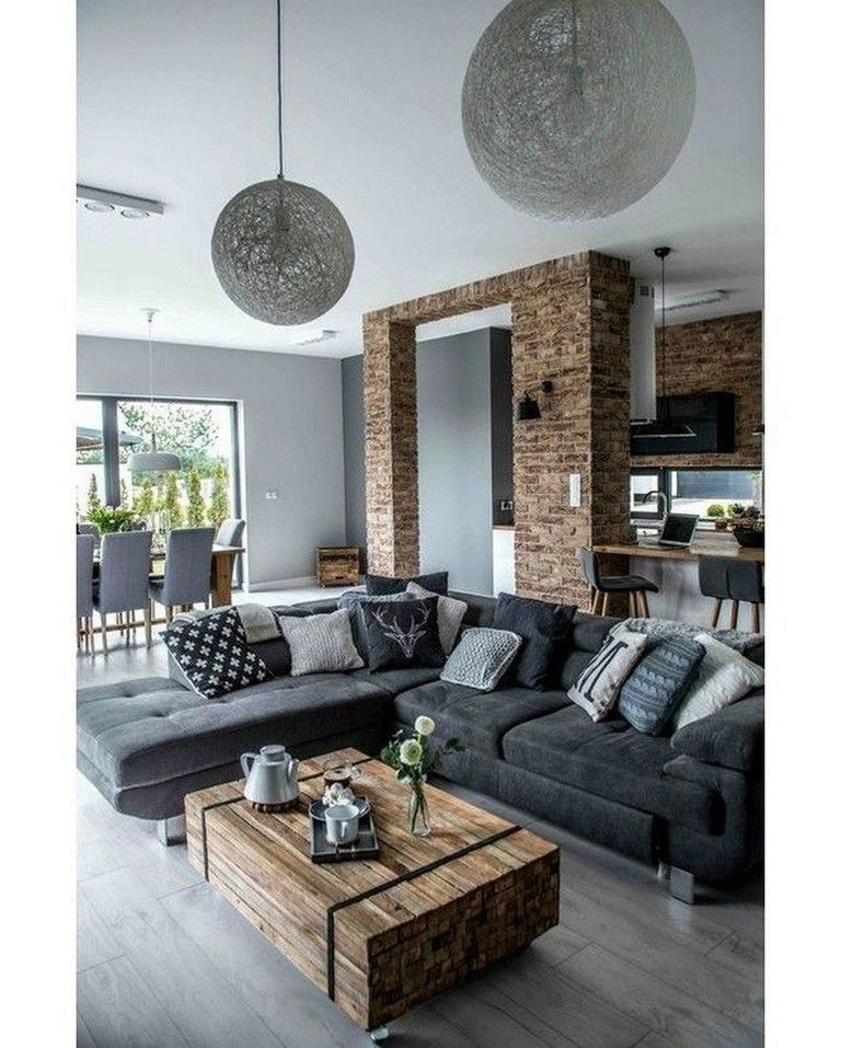 40 Cozy Industrial Living Room Decor Ideas Livingroom Livingroomideas Livingroomdecorations Rustic Living Room Living Room Decor Apartment Rustic Apartment