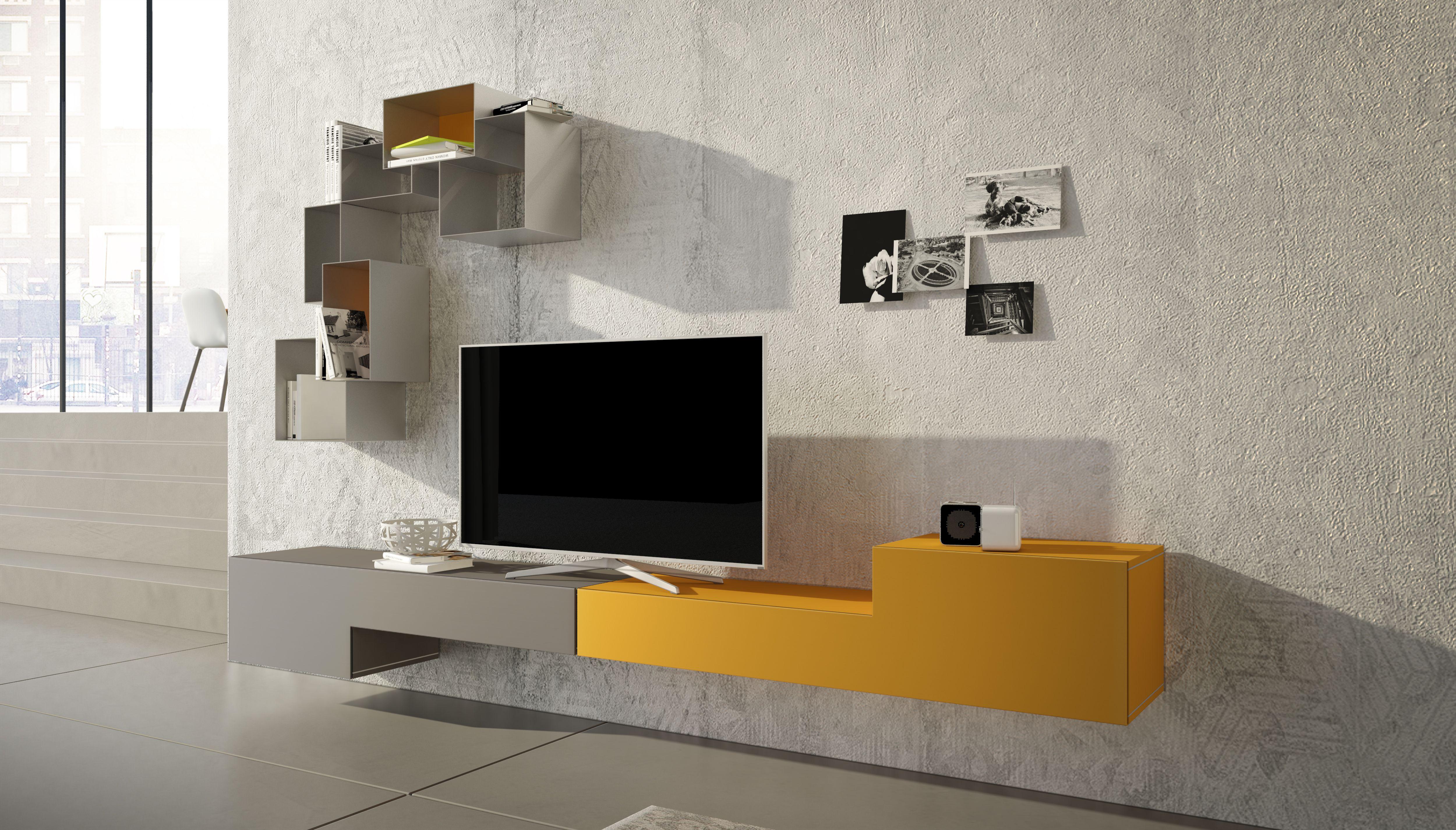Parete Mobili Porta Tv Design.Mobile Porta Tv Moderno Parete Attrezzata Larghezza 300 Cm