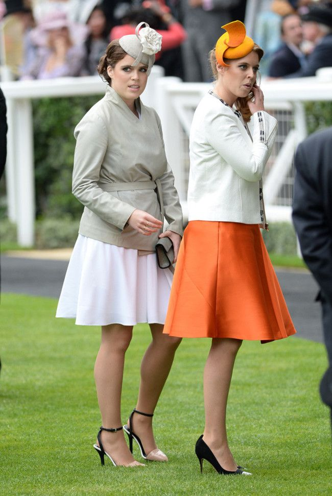 Las princesas Eugenia y Beatriz en Ascot
