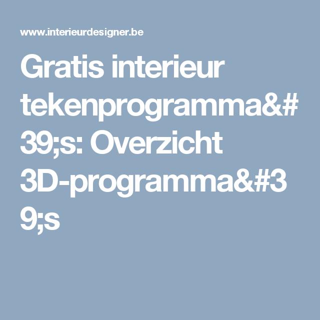gratis interieur tekenprogrammas overzicht 3d programmas