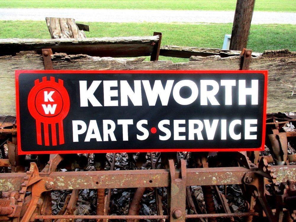 Vintage KENWORTH TRUCK PARTS SERVICE sign Dealership Shop