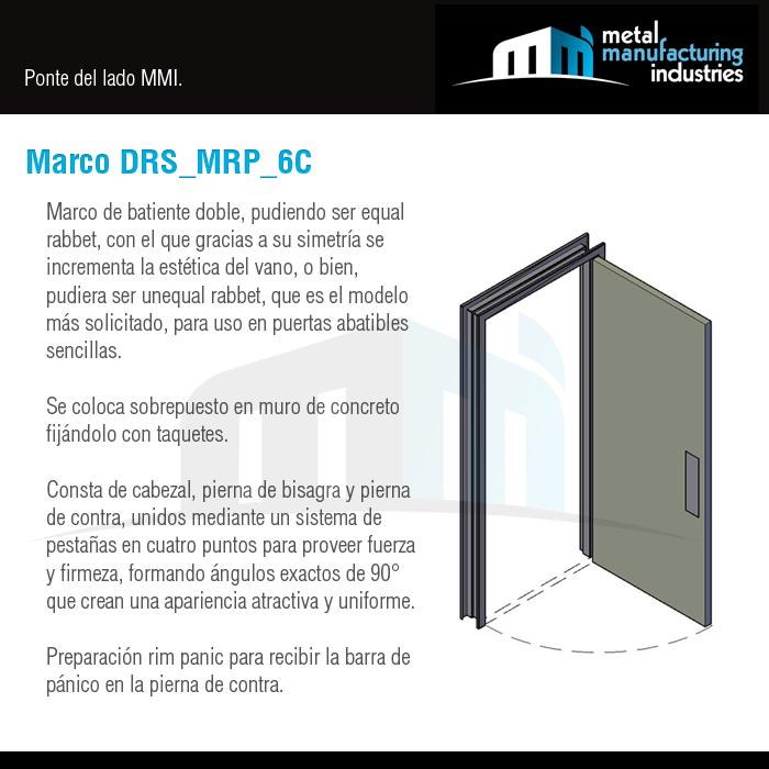El marco DRS_MRP_6C es ideal para recibir puertas de acero rolado en ...