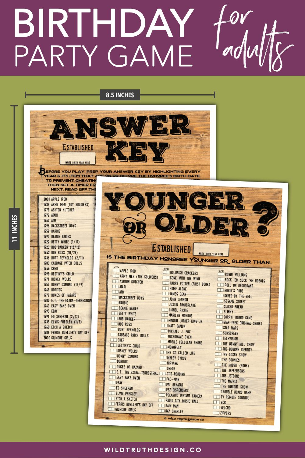 This is a photo of Candid Free Printable Birthday Party Games Adults