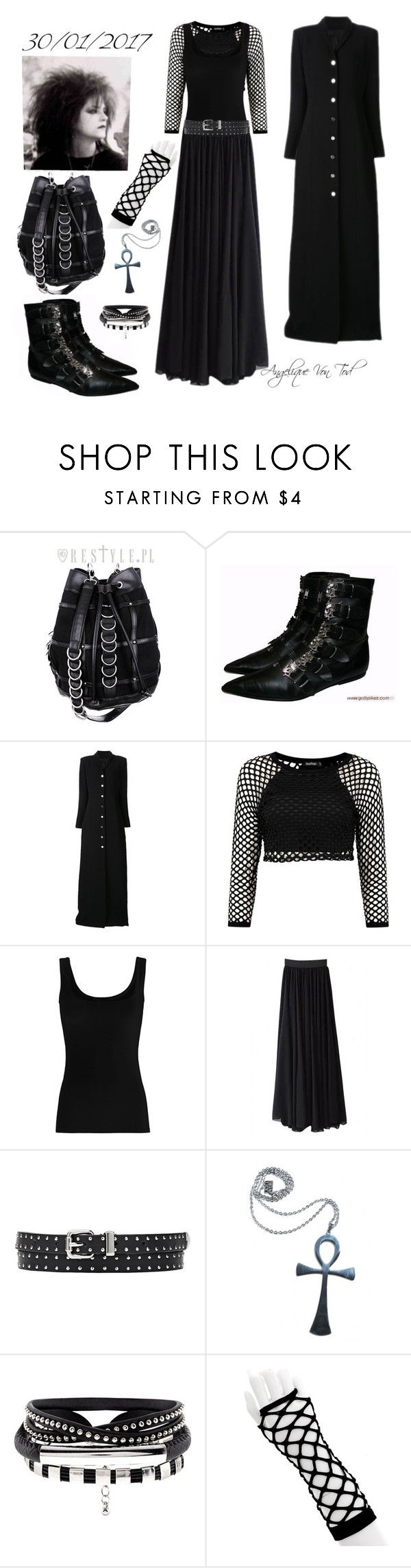 """""""Trad Goth"""" by angelique-von-tod ❤ liked on Polyvore featuring Y/Project, Twenty and Kill Star"""