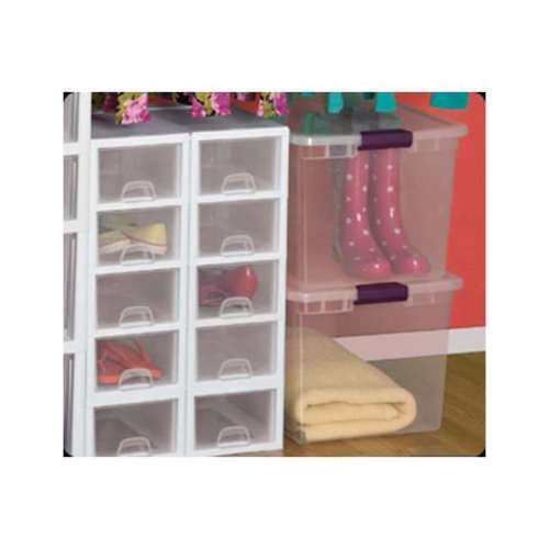 Clear Latch Box Storage Lid Container Plastic Organizer Tote Bin Case 6 Pack