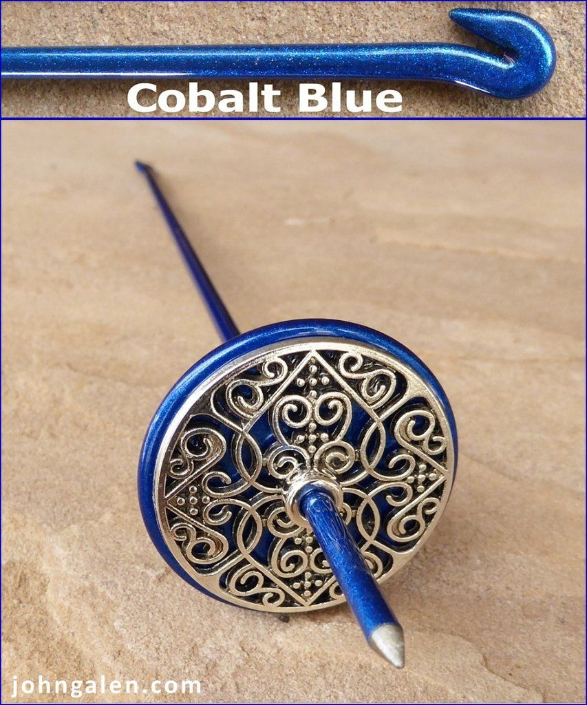 Tahkli Support Spindle - MID-SIZE - Cobalt-Blue - FREE SHIPPING