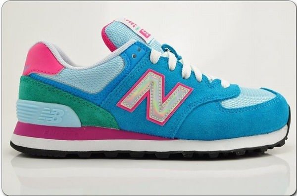 dc6e4049 Joes New Balance 574 WL574HBR Blue Green Pink White Womens Shoes ...
