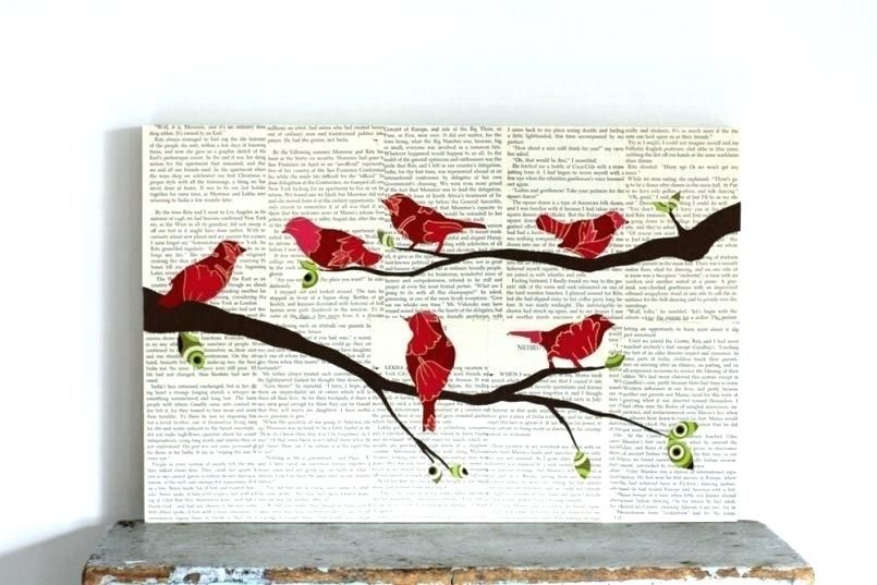 Birds On A Wire Wall Decor Saumitra Info Bird Wall Art Paper Art Bird On Branch