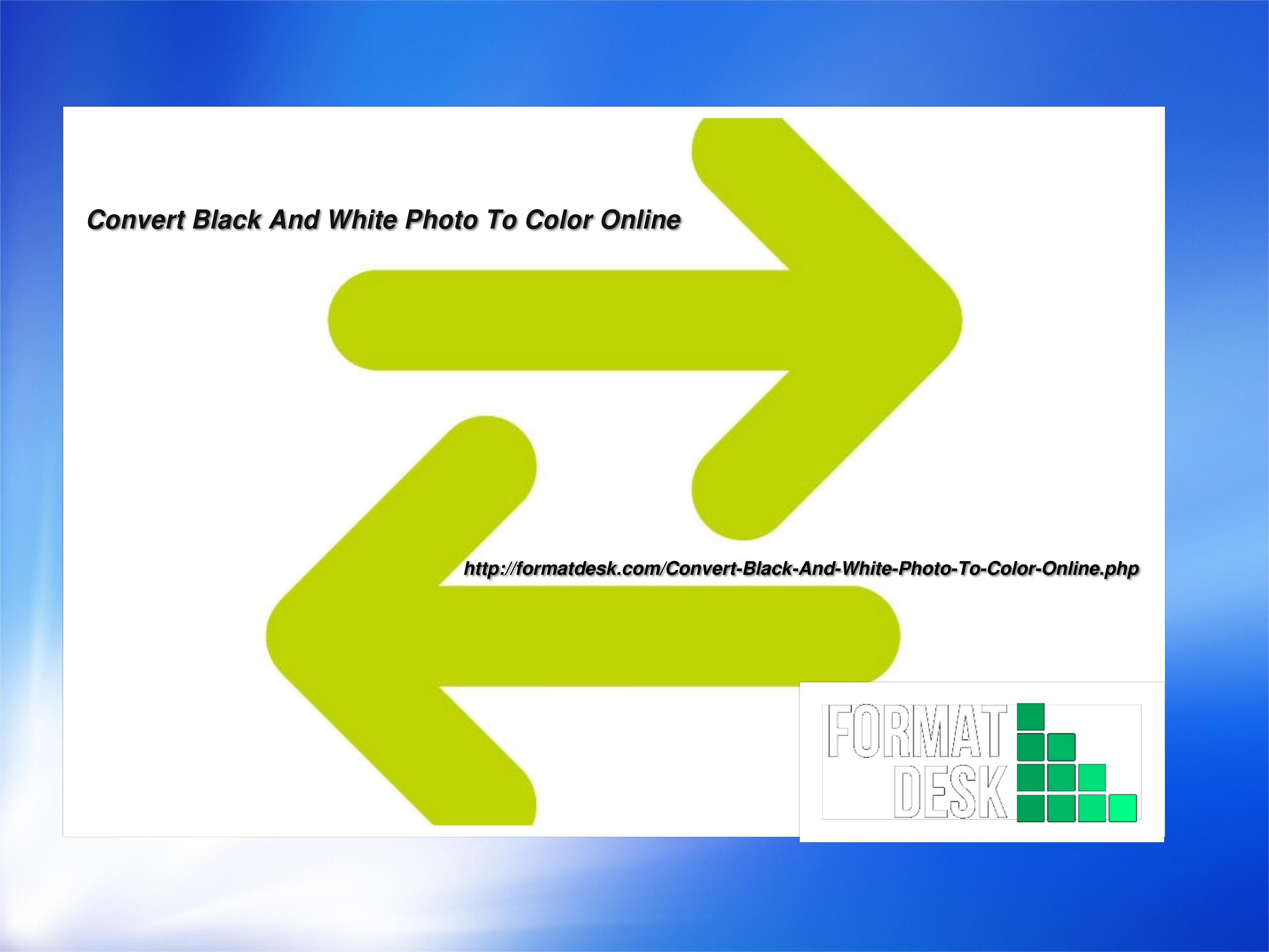 best website for Convert Black And White Photo To Color