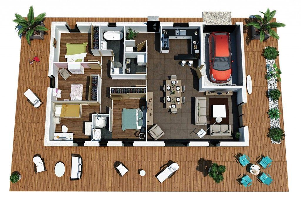 plans maison 3d plans de maison en d construire avec With wonderful plan de maison a etage 9 plans de maison en 3d construire avec maisons den flandre
