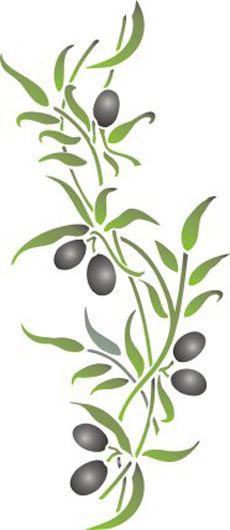 branche d 39 olivier olive pinte. Black Bedroom Furniture Sets. Home Design Ideas