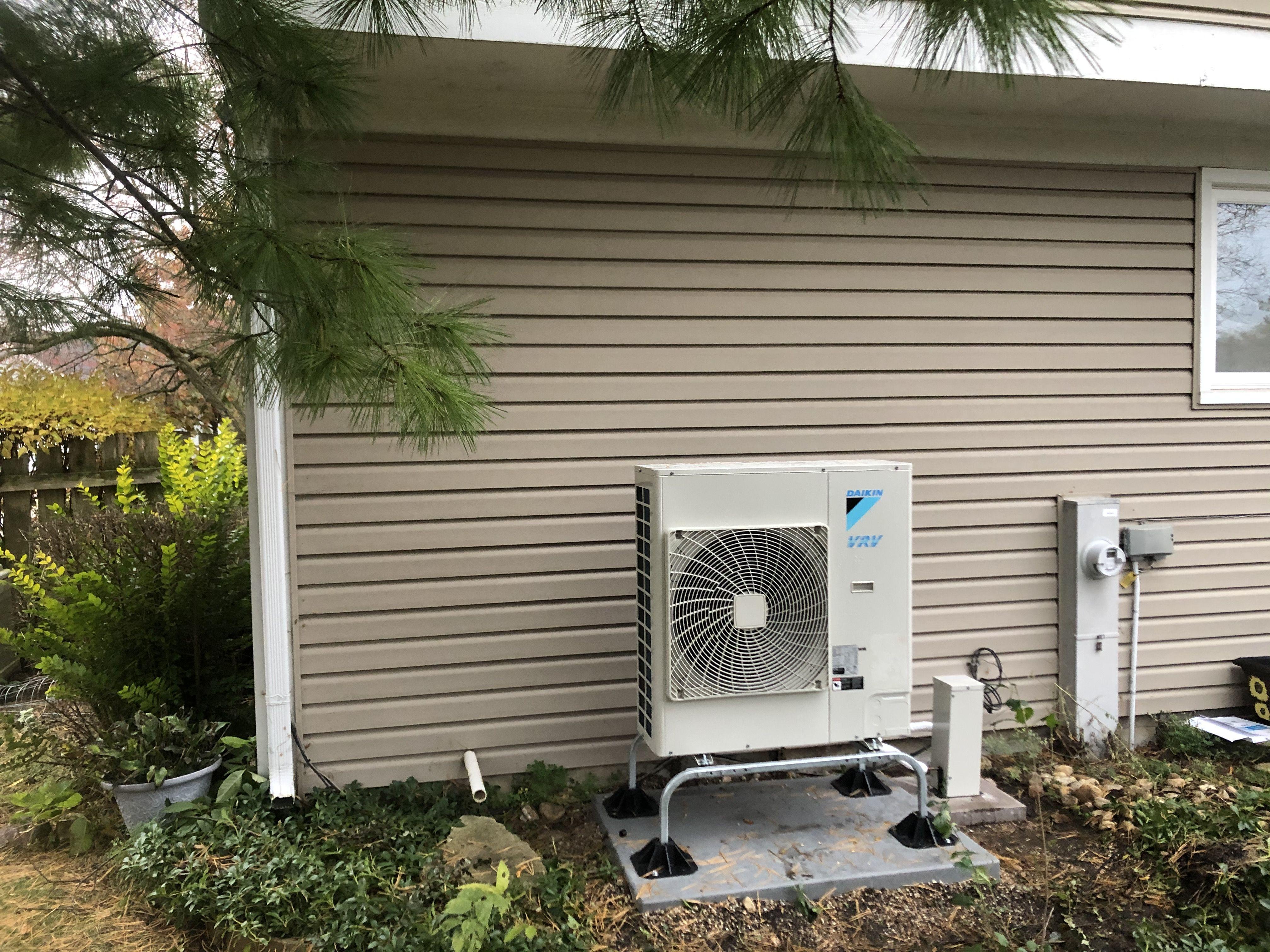 Daikin VRV Life heat pump installed with a Daikin