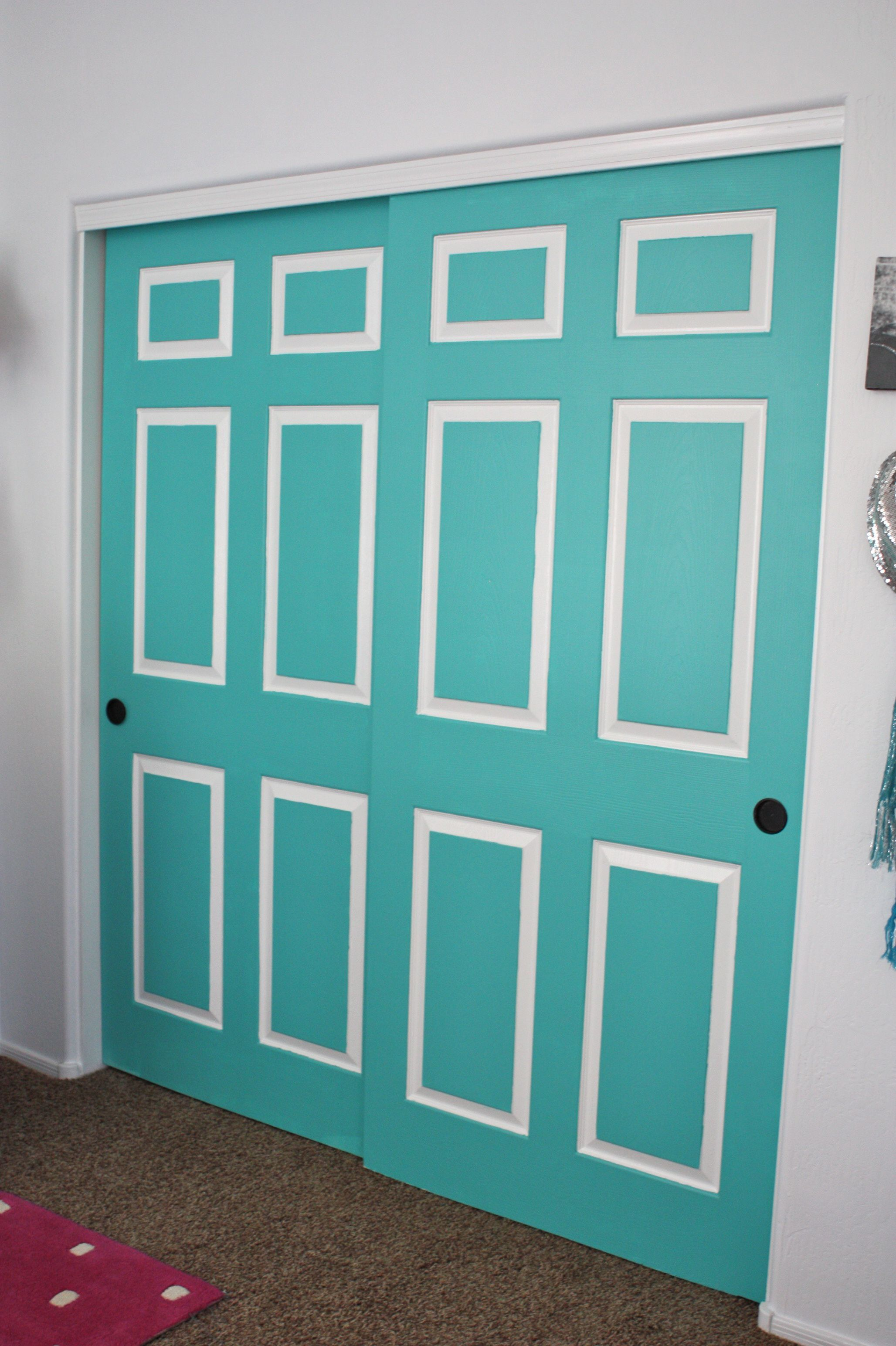Need To Paint The Front Closet Doors. Not This Color    But The Idea