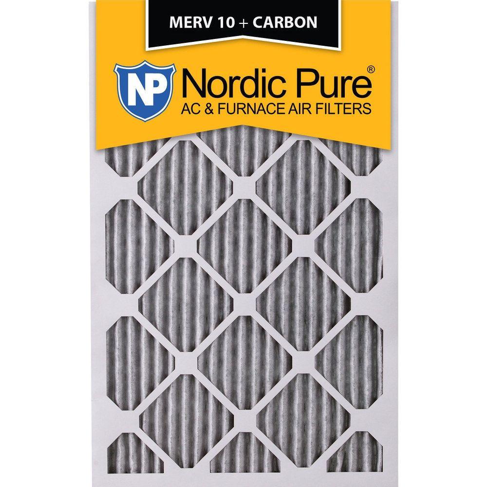 Nordic Pure 16x20x1 Pleated MERV 10 Plus Carbon AC Furnace