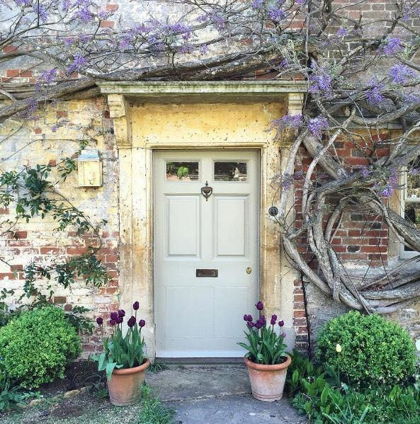 Charming Front Door To An Old English Country House