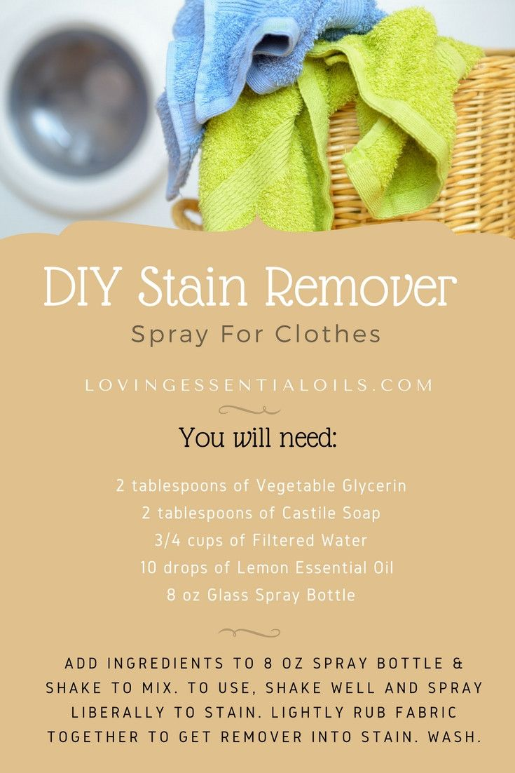 Diy Stain Remover For Clothes With Essential Oils Diy Stain