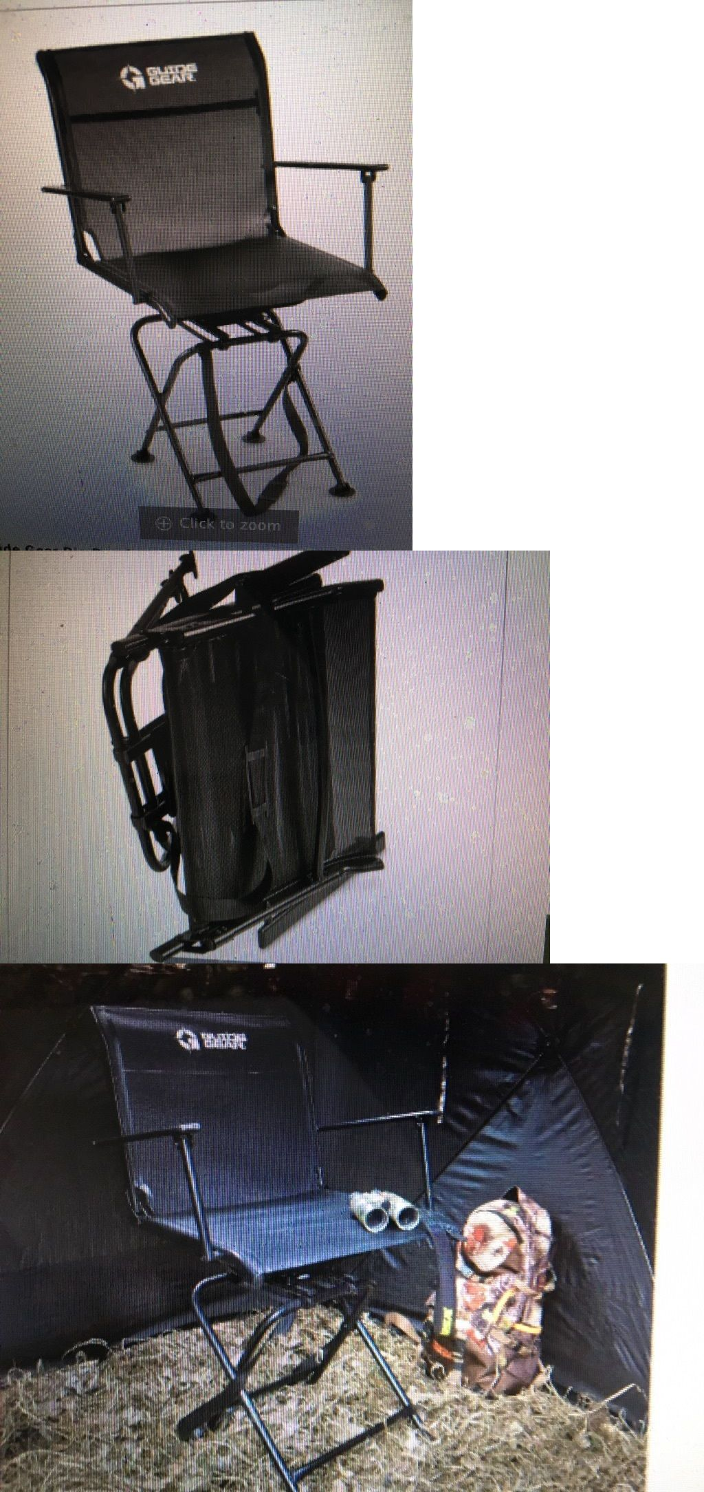Seats and Chairs New 360 Swivel Hunting Blind Chair Guide