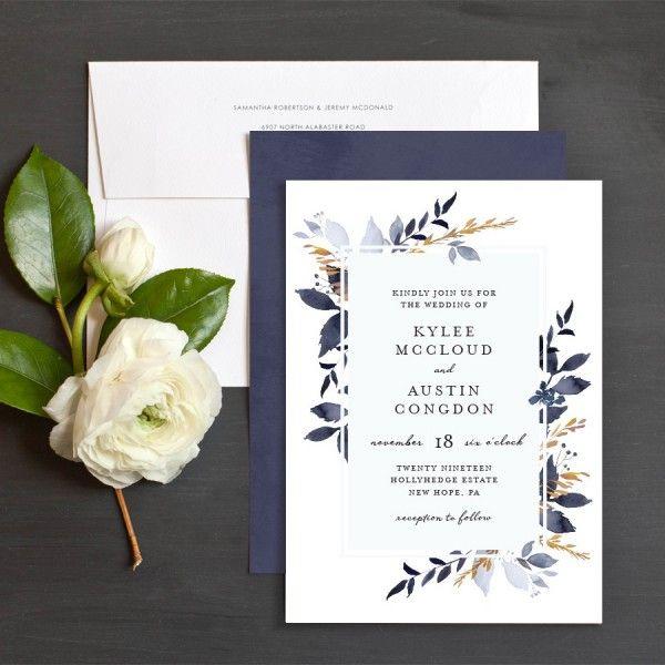 Leafy Frame Wedding Invitations By Emily Crawford Elli Fun Wedding Invitations Wedding Invitations Beautiful Wedding Invitations