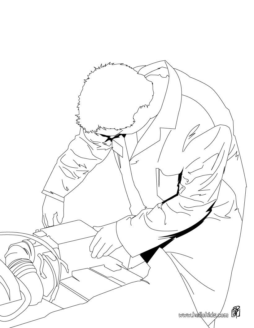 Mechanic coloring page. Amazing way for kids to discover job. More ...