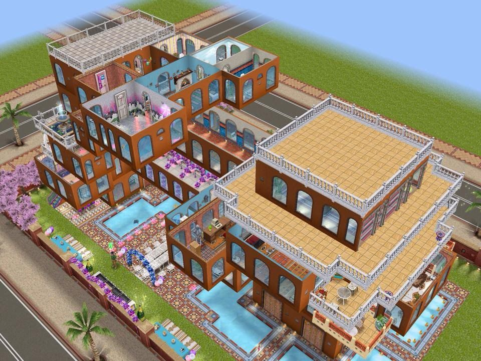Sims Freeplay House Design With Balconies Casa Sims Sims Casas