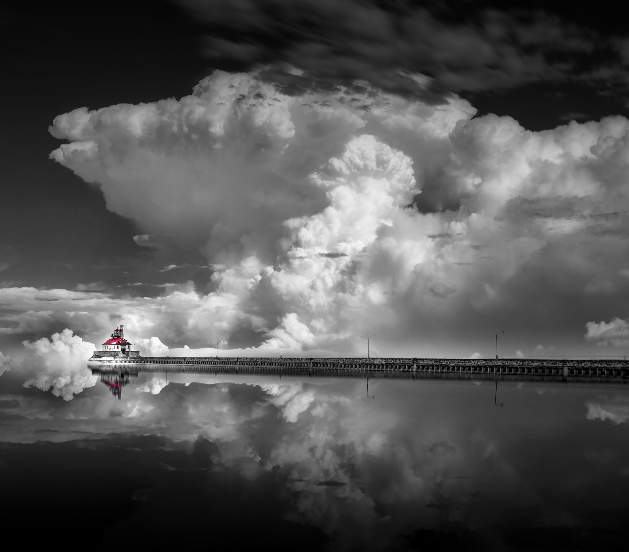 Pin Lisa Cowley Sky & Water Clouds