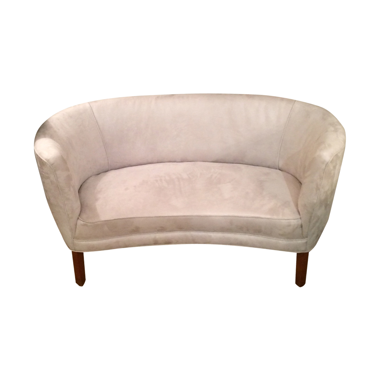 Settee Loveseat A Stylish Low Slung Curved Settee From The 1940s The Settee