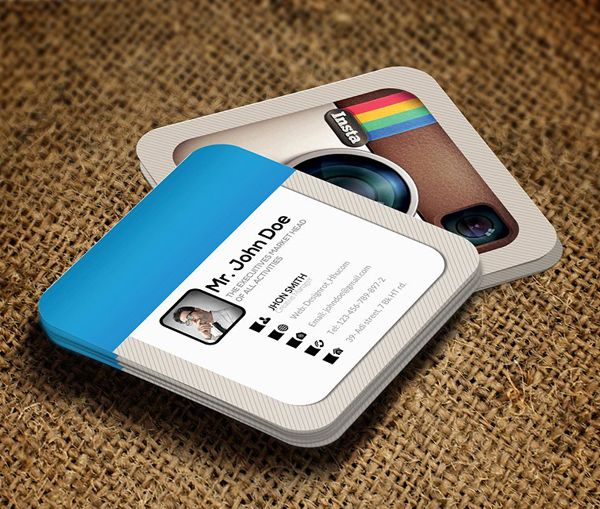 Creative instagram social business card template business cards mini square business cards are creative and cost effective innovation small square business cards are custom shape and professionally design business cards reheart Images