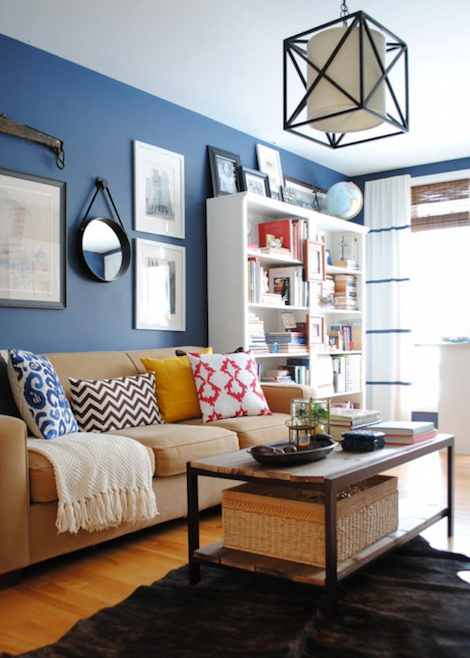 Blue Casual Living Room
