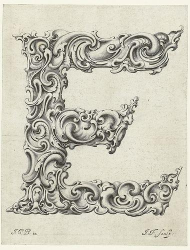 Letter E Jan Chrystian Bierpfaff  Jeremiasz Falck